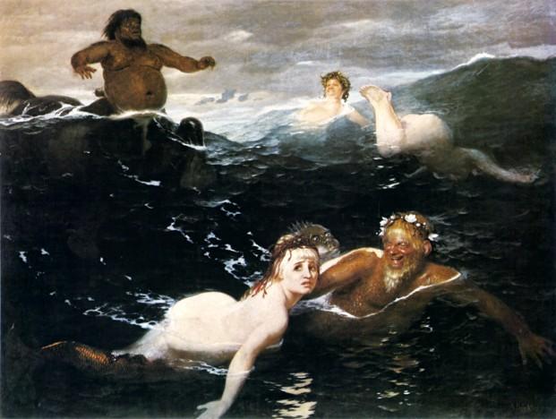 Arnold Boecklin Spiel der Wellen 1883