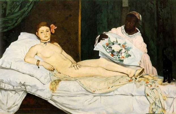 "Èduard Manet ""Olympia"" Öl auf Leinwand 1863"