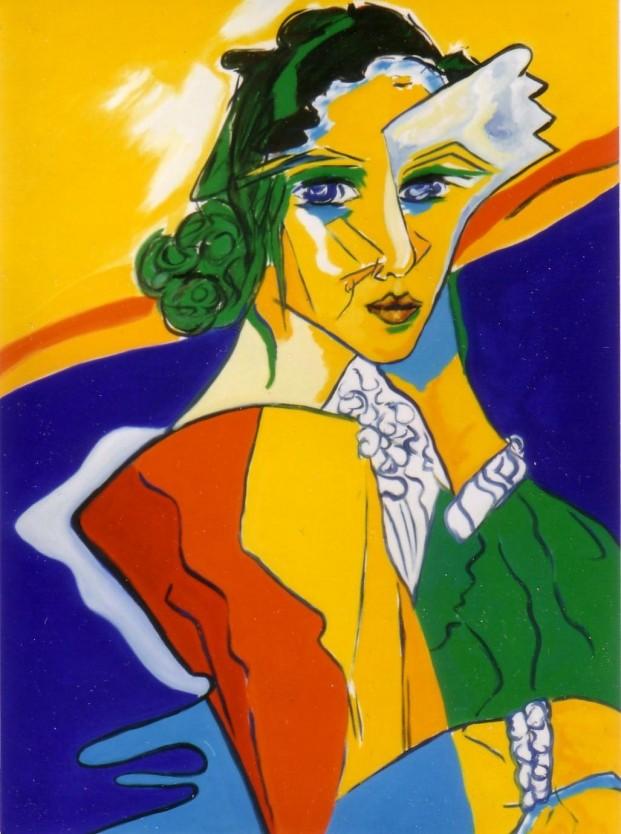 Hannah Arendt, Gemälde von HM Kull©