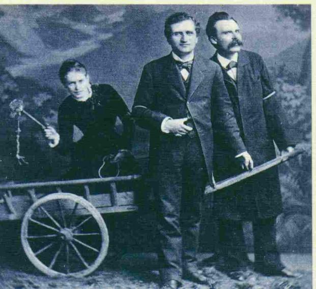 Lous Andreas Salome mit Paul Rée und Friedrich Nietzsche, unbekanntes Foto-Atelier, Zürich 1882