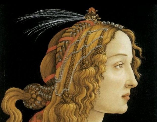 Aspasia of Miletus, hetaera, philosopher, and orator (ca 470 to 420 BC), might have looked like this: portrait by Sandro Botticelli © Uffizi, Florence